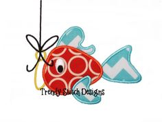 Catch of The Day Fish 1 Applique Machine Embroidery Design