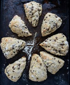 Chocolate Chip Banana Bread Scones with Brown Butter Glaze | howsweeteats.com