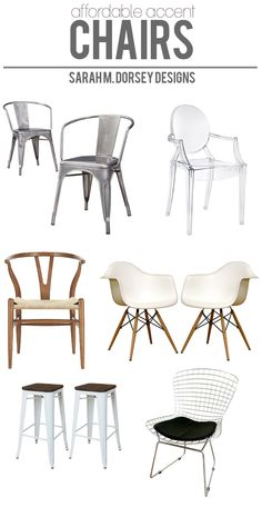 sarah m. dorsey designs: Affordable Finds | Accent Chairs