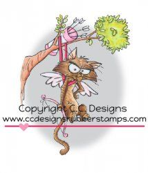 CC Designs - Roberto's Rascals Stuck In A Tree Rubber Stamp - bjl