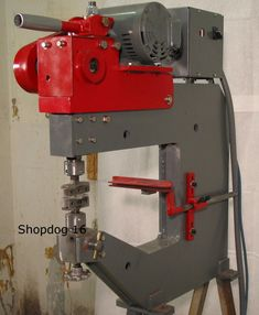 This is the first reciprocating metalforming machine I built. It was completed in September 2003. The design is a blend of information I gleaned from a variety of internet sources. The mechanism is...