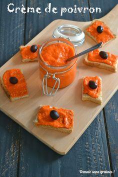 Crème de poivron {poivronnade} sans gluten et sans lactose.