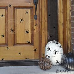 Halloween Spiders Vinyl lettering wall decal by VinylLettering, $8.97 Halloween Spider vinyl lettering wall decals pumpkins