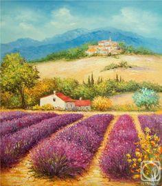 Currant Ruslan.  Blooming lavender