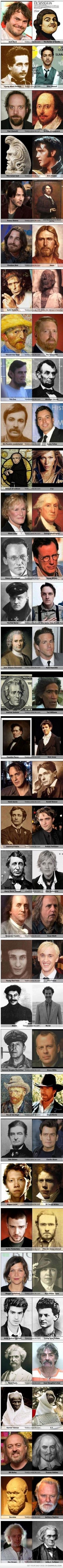 wow! Reincarnation much?? when celebs look like people from history.....: