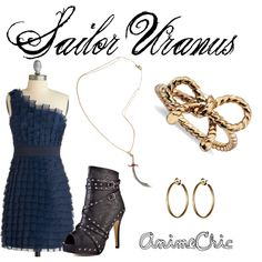 Sailor Uranus from Sailor Moon inspired outfit by AnimeChic Sailor Neptune, Sailor Uranus, Sailor Mars, Sailor Moon Outfit, Ancient Magus Bride, Character Inspired Outfits, Sailor Mercury, Sailor Scouts, Manga
