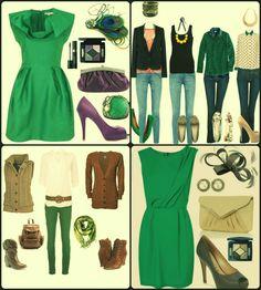 combinaciones color ropa - Buscar con Google combinaciones verde morado