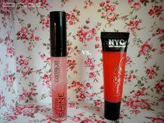 SÚBOJ (lesk na pery): Catrice Infinite Shine VS. NYC Kissgloss