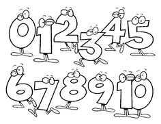 Math Coloring Pages For Kids. Gallery of math coloring pages for kids. Your children would have fun coloring these image, while learning Math. Numbers For Kids, Numbers Preschool, Preschool Printables, Preschool Activities, Preschool Letters, Printable Coloring Pages, Coloring Pages For Kids, Coloring Sheets, Kreative Jobs