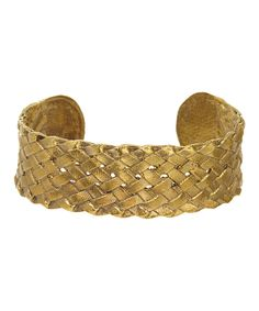 Look at this Goldtone Belt Cuff on #zulily today!