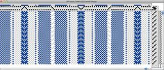 Draft for plain weave + twill in same piece.