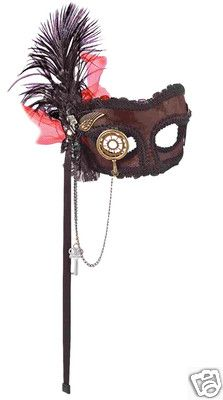 steampunk womens eye mask wings monocle visor style awesome! costume accessory  $29.95