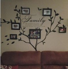 Family Photo   Wall Decal  set is a beautiful centerpiece for your interior space! It is the perfect way to showcase beautiful family photos, prints, art, and m