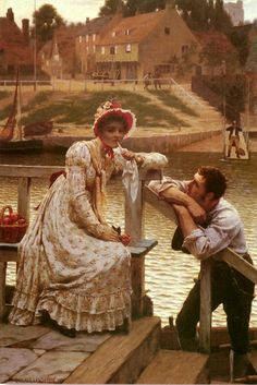 Courtship ~ Edmund Blair Leighton ~ (English: 1852-1922)