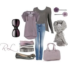 """""""Purple and gray"""" by rosa-lauber on Polyvore"""
