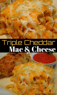 On busy oven days or during the holidays when cooking space is limited, this Slow Cooked Triple Cheddar Mac And Cheese is a tasty option. Cheddar Mac And Cheese, Macaroni Cheese, Mac Cheese, Slow Cooker Recipes, Crockpot Recipes, Cooking Recipes, Crockpot Dishes, Yummy Recipes, Yummy Food