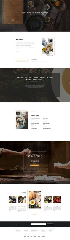 Quark Restaurant WordPress Themes