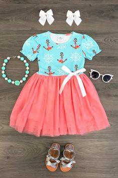 Anchor Soft Mint Tutu Dress