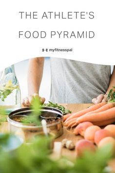 The classic food guide pyramid was created by the USDA to provide an easy  breakdown of government eating recommendations. The pyramid shows the basic structure of a generally healthy eating pattern, but athletes are not the general public. Athletes should think of their nutrition in terms of setting a strong foundation and progressing to the top end. #myfitnesspal #athletesfoodpyramid #athletesdiet #healthyeating #dietforathletes #runnerdiet #sportsnutrition #athletesnutrition… Nutrition Guide, Sports Nutrition, Health And Nutrition, Health And Wellness, Healthy Eating Tips, Healthy Cooking, Cooking Tips, Runner Diet, Athletes Diet