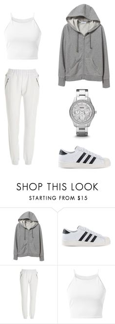"""""""All I Want is you"""" by nataliamalecka ❤ liked on Polyvore featuring мода, adidas Originals, River Island и Parisian"""