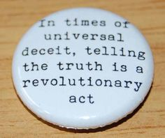 1984 COVER 1 inch 25mm Button Badge Nineteen Eighty Four George Orwell