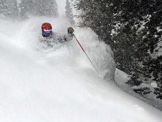 Skiing Jackson Hole cowboy powder in Wyoming