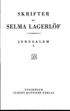 Selma Lagerlöf: Jerusalem