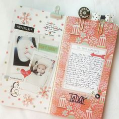 Bits and Pieces...: February Gossamer Blue Projects - Traveler's Notebook Layouts