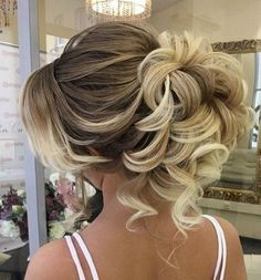 curly updo wedding hairstyle via elstile