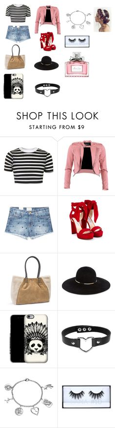 """""""Untitled #181"""" by mackenzie-marsinelli on Polyvore featuring Topshop, FRACOMINA, Current/Elliott, Jimmy Choo, UGG, Eugenia Kim, Love This Life, Huda Beauty and Christian Dior"""