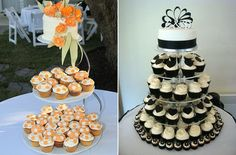 [ Cupcake Wedding Cakes Stylish Eve Apps Directories 29 ] - Best Free Home Design Idea & Inspiration Peach Cupcakes, Wedding Cakes With Cupcakes, Unique Wedding Cakes, Fun Cupcakes, Cupcake Cakes, Cupcake Wedding, Scroll Wedding Cake, Classic Cake, Wedding 2015