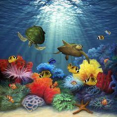 Coral Sea - Canvas Print & Canvas Art - Photowall