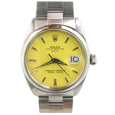"""Jewelry & Watches - Rolex - Rolex Steel Oyster Perpetual Date ref 1500 Custom """"Popcorn"""" Dial - Wanna Buy A Watch? Rolex Watches For Men, Old Watches, Luxury Watches, Vintage Rolex, Vintage Watches, Rolex Oyster Perpetual Date, Mens Fashion Suits, Mens Suits, Men's Fashion"""