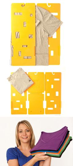MiracleFold T-Shirt Laundry Folder - Genius! #product_design