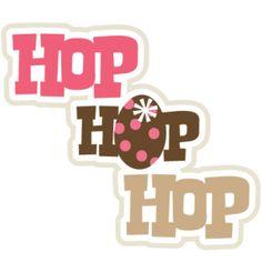 Hop Hop Hop SVG scrapbook title easter svg files for scrapbooking cards free svgs free scal files