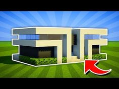 Minecraft : How To Build a Easy Small Modern House Tutorial [ Minecraft House Tutorials, Easy Minecraft Houses, Minecraft Plans, Amazing Minecraft, Minecraft City, Minecraft Houses Blueprints, Minecraft Decorations, Minecraft Construction, Minecraft House Designs