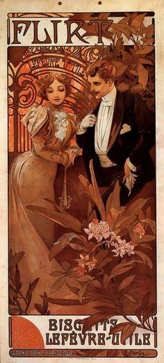 Flirt Calendar, Alphonse Mucha. by lizzie