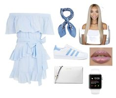 """""""Getting the blues 💙"""" by jackiedesiner ❤ liked on Polyvore featuring Topshop, Manipuri, adidas and Michael Kors"""