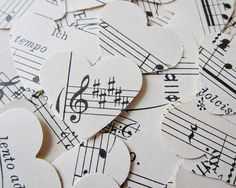 "Musical Hearts :)   Cute to put in a Valentine's Day card, saying.........""you put a song in my heart."" <3"