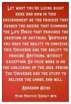 Abraham-Hicks Quote #LifeForceEnergyAbrahamHicks