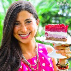 The #FullyRaw #Raspberry #Shortcake! Raw, vegan, dairy-free, gluten-free, healthy, pie! Recipe here: https://www.youtube.com/watch?v=UA6O9O9amdQ
