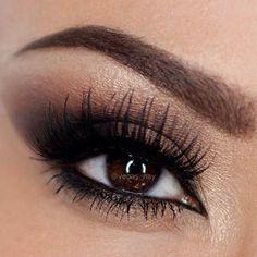 144 elf eyeshadow palette Always love the smoky eye. Kiss Makeup, Prom Makeup, Wedding Hair And Makeup, Hair Makeup, Bridesmaid Makeup, Bridesmaids, Makeup For Brown Eyes, Smokey Eye Makeup, Elf Eyeshadow