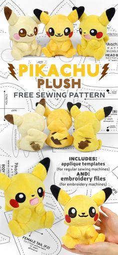 Plushie Patterns, Animal Sewing Patterns, Sewing Patterns Free, Free Pattern, Felt Patterns Free, Sewing Toys, Sewing Crafts, Sewing Projects, Sewing Stuffed Animals