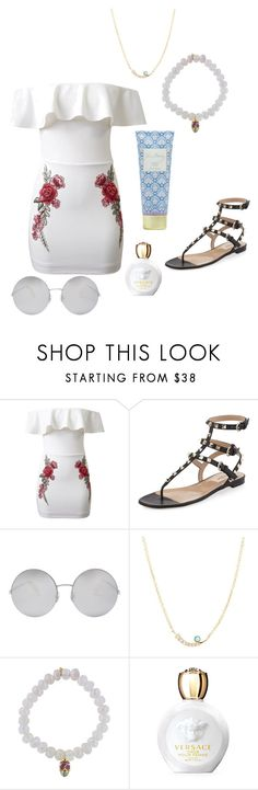 """."" by laura-lorena-forever ❤ liked on Polyvore featuring WithChic, Valentino, Victoria Beckham, Sydney Evan, Versace and Vera Bradley"