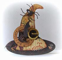Peets Scrapalbum: Witch Hat Shaped Card