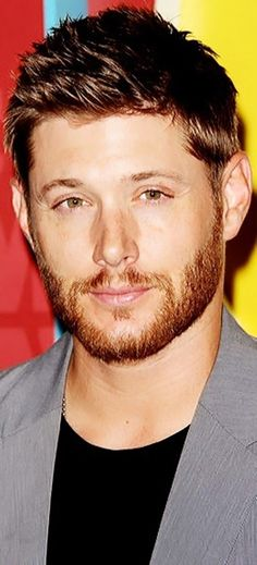 Jensen Ackles. Love his character in Supernatural. Funny & ever so handsome. Smiles going his way...