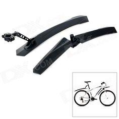 Yongruih F-889 Universal Plastic Front   Rear Mud Guard Set for Bicycle - Black Price: $17.00