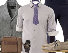 Stylisches Business-Outfit für Männer mit Mut zur Mode! Hier kaufen: http://stylefru.it/s917775 #Cardigan #Krawatte