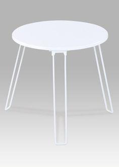 GC3843 WT Odkládací stolek bílý MDF mat, kovové nohy