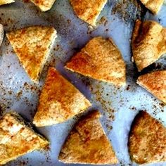 Homemade Gluten Free Pita Chips; Why make your own pita chips when you can buy them prepackaged? The answer; fresh flavor! Additionally, hom...